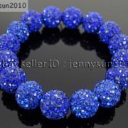 12mm-Czech-Crystal-Rhinestones-Pave-Clay-Round-Disco-Beads-Stretchy-Bracelet-281879224377-8756