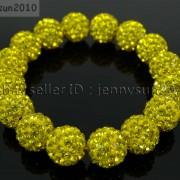 12mm-Czech-Crystal-Rhinestones-Pave-Clay-Round-Disco-Beads-Stretchy-Bracelet-281879224377-8e40
