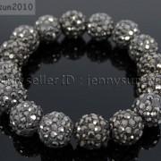 12mm-Czech-Crystal-Rhinestones-Pave-Clay-Round-Disco-Beads-Stretchy-Bracelet-281879224377-9c81