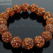 12mm-Czech-Crystal-Rhinestones-Pave-Clay-Round-Disco-Beads-Stretchy-Bracelet-281879224377-a562