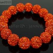 12mm-Czech-Crystal-Rhinestones-Pave-Clay-Round-Disco-Beads-Stretchy-Bracelet-281879224377-aa49