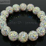 12mm-Czech-Crystal-Rhinestones-Pave-Clay-Round-Disco-Beads-Stretchy-Bracelet-281879224377-b62e
