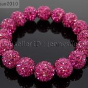 12mm-Czech-Crystal-Rhinestones-Pave-Clay-Round-Disco-Beads-Stretchy-Bracelet-281879224377-b9d9