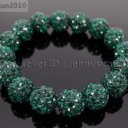 12mm-Czech-Crystal-Rhinestones-Pave-Clay-Round-Disco-Beads-Stretchy-Bracelet-281879224377-d185