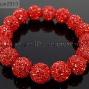 12mm-Czech-Crystal-Rhinestones-Pave-Clay-Round-Disco-Beads-Stretchy-Bracelet-281879224377-eabd