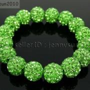 12mm-Czech-Crystal-Rhinestones-Pave-Clay-Round-Disco-Beads-Stretchy-Bracelet-281879224377-f2bc