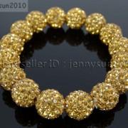 12mm-Czech-Crystal-Rhinestones-Pave-Clay-Round-Disco-Beads-Stretchy-Bracelet-281879224377-fcc2