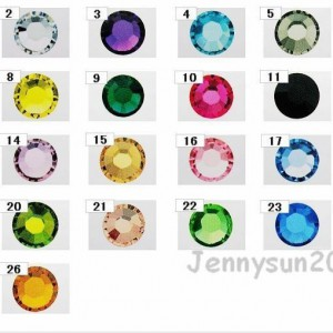 1440Pcs-Top-Quality-Czech-Crystal-Round-Rhinestones-Flatback-No-Hotfix-Nail-Art-370841029073