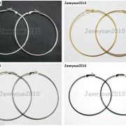 18K-Metal-10-Pairs-Large-Round-Hoops-Earring-Finding-Silver-Gunmetal-Gold-Plated-251016755252