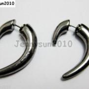 1Pair-Hot-Curved-Hook-Metal-Ear-Tunnel-Stud-Earrings-25mm-x-28mm-Pick-Colors-261015695171-2557