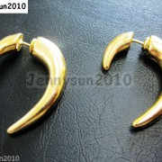 1Pair-Hot-Curved-Hook-Metal-Ear-Tunnel-Stud-Earrings-25mm-x-28mm-Pick-Colors-261015695171-e681