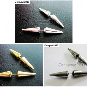 1Pair-Hot-Spike-Metal-Ear-Tunnel-Stud-Earrings-40mm-Pick-Colors-261021681543