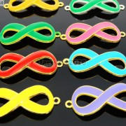 20Pcs-Colorful-Smooth-Metal-Big-Infinity-Bracelet-Connector-Charm-Beads-Mixed-370849758959-3