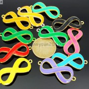 20Pcs-Colorful-Smooth-Metal-Big-Infinity-Bracelet-Connector-Charm-Beads-Mixed-370849758959-4