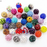 20Pcs-Quality-Czech-Crystal-Rhinestones-Pave-Clay-Round-Disco-Ball-Spacer-Beads-281053012535