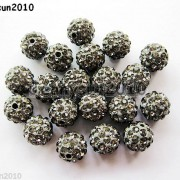 20Pcs-Quality-Czech-Crystal-Rhinestones-Pave-Clay-Round-Disco-Ball-Spacer-Beads-281053012535-822c