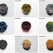 2Pcs-Druzy-Quartz-Agate-Flat-Back-Connector-Round-Cabochon-Beads-10mm-12mm-14mm-281050879629-2