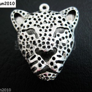 2Pcs-Vintage-Antique-Tibetan-Silver-Big-Leopard-Head-Charm-Pendant-Bead-35mm-281108121813