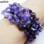 30mm-Wide-Natural-Gemstone-Chip-Nugget-Beaded-Fashion-Stretchy-Bracelet-Healing-251093768229-202b