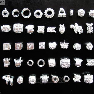 50Pcs-Mixed-Big-Hole-Silver-Charm-Beads-Fit-European-Bracelet-and-Necklace-DIY-261232466922