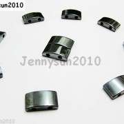 50pcs-Natural-Jet-Hematite-Gemstone-2-Hole-Puffed-Oblong-Cushion-MAGNETIC-Beads-261056109601-2