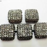 5Pcs-Crystal-Glass-Rhinestones-Pave-Flat-Square-Bracelet-Connector-Charm-Beads-261299309673-0069