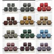 5Pcs-Crystal-Glass-Rhinestones-Pave-Flat-Square-Bracelet-Connector-Charm-Beads-261299309673