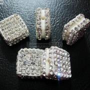 5Pcs-Crystal-Glass-Rhinestones-Pave-Flat-Square-Bracelet-Connector-Charm-Beads-261299309673-2