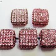 5Pcs-Crystal-Glass-Rhinestones-Pave-Flat-Square-Bracelet-Connector-Charm-Beads-261299309673-2dcb