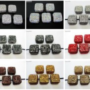 5Pcs-Crystal-Glass-Rhinestones-Pave-Flat-Square-Bracelet-Connector-Charm-Beads-261299309673-3