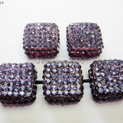 5Pcs-Crystal-Glass-Rhinestones-Pave-Flat-Square-Bracelet-Connector-Charm-Beads-261299309673-4ceb
