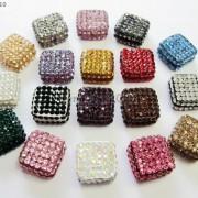 5Pcs-Crystal-Glass-Rhinestones-Pave-Flat-Square-Bracelet-Connector-Charm-Beads-261299309673-6b00
