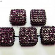 5Pcs-Crystal-Glass-Rhinestones-Pave-Flat-Square-Bracelet-Connector-Charm-Beads-261299309673-76ed