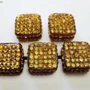 5Pcs-Crystal-Glass-Rhinestones-Pave-Flat-Square-Bracelet-Connector-Charm-Beads-261299309673-ac33