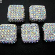 5Pcs-Crystal-Glass-Rhinestones-Pave-Flat-Square-Bracelet-Connector-Charm-Beads-261299309673-d4ad