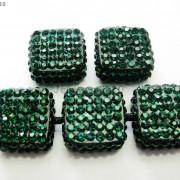 5Pcs-Crystal-Glass-Rhinestones-Pave-Flat-Square-Bracelet-Connector-Charm-Beads-261299309673-da0e