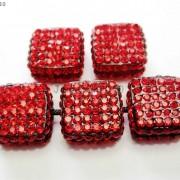 5Pcs-Crystal-Glass-Rhinestones-Pave-Flat-Square-Bracelet-Connector-Charm-Beads-261299309673-dc8f