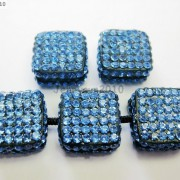 5Pcs-Crystal-Glass-Rhinestones-Pave-Flat-Square-Bracelet-Connector-Charm-Beads-261299309673-e788