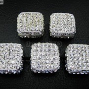 5Pcs-Crystal-Glass-Rhinestones-Pave-Flat-Square-Bracelet-Connector-Charm-Beads-261299309673-ed63