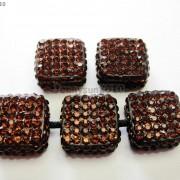 5Pcs-Crystal-Glass-Rhinestones-Pave-Flat-Square-Bracelet-Connector-Charm-Beads-261299309673-f000