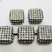 5Pcs-Crystal-Glass-Rhinestones-Pave-Flat-Square-Bracelet-Connector-Charm-Beads-261299309673-f561