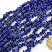 5mm-x-8mm-Natural-Lapis-Lazuli-Gemstone-Chip-Nugget-Loose-Beads-35-Strand-370816439198-3