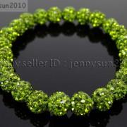 8mm-Czech-Crystal-Rhinestones-Pave-Clay-Round-Disco-Beads-Stretchy-Bracelet-281880718287-02b7