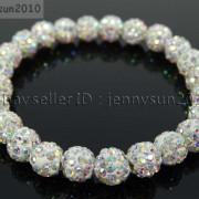 8mm-Czech-Crystal-Rhinestones-Pave-Clay-Round-Disco-Beads-Stretchy-Bracelet-281880718287-0f3c