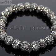 8mm-Czech-Crystal-Rhinestones-Pave-Clay-Round-Disco-Beads-Stretchy-Bracelet-281880718287-0fa1