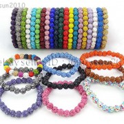 8mm-Czech-Crystal-Rhinestones-Pave-Clay-Round-Disco-Beads-Stretchy-Bracelet-281880718287