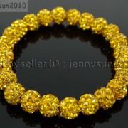 8mm-Czech-Crystal-Rhinestones-Pave-Clay-Round-Disco-Beads-Stretchy-Bracelet-281880718287-1bab