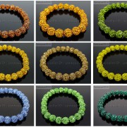 8mm-Czech-Crystal-Rhinestones-Pave-Clay-Round-Disco-Beads-Stretchy-Bracelet-281880718287-2