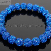 8mm-Czech-Crystal-Rhinestones-Pave-Clay-Round-Disco-Beads-Stretchy-Bracelet-281880718287-21d9