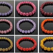 8mm-Czech-Crystal-Rhinestones-Pave-Clay-Round-Disco-Beads-Stretchy-Bracelet-281880718287-3